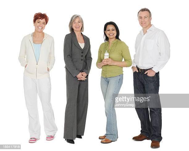 Portrait de groupe multiraciale de gens
