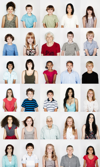 Group portrait of people smiling - gettyimageskorea