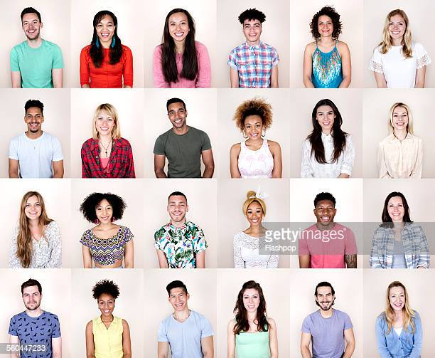 group portrait of people smiling - 20 24 years stock pictures, royalty-free photos & images