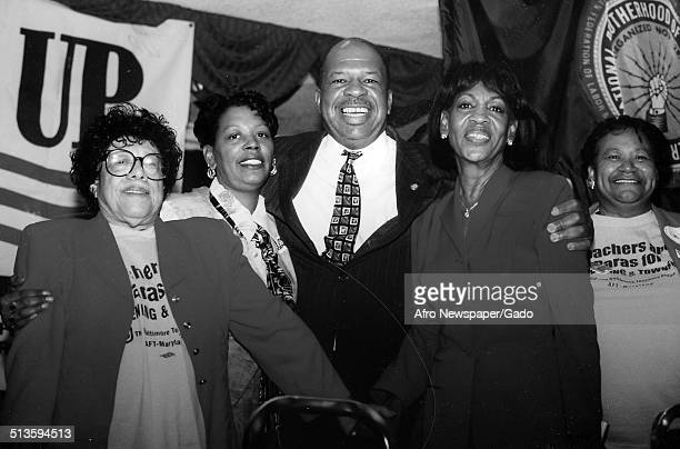 Group portrait of politician and Maryland congressional representative Elijah Cummings November 7 1998