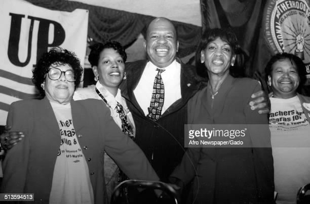Group portrait of politician and Maryland congressional representative Elijah Cummings, November 7, 1998.