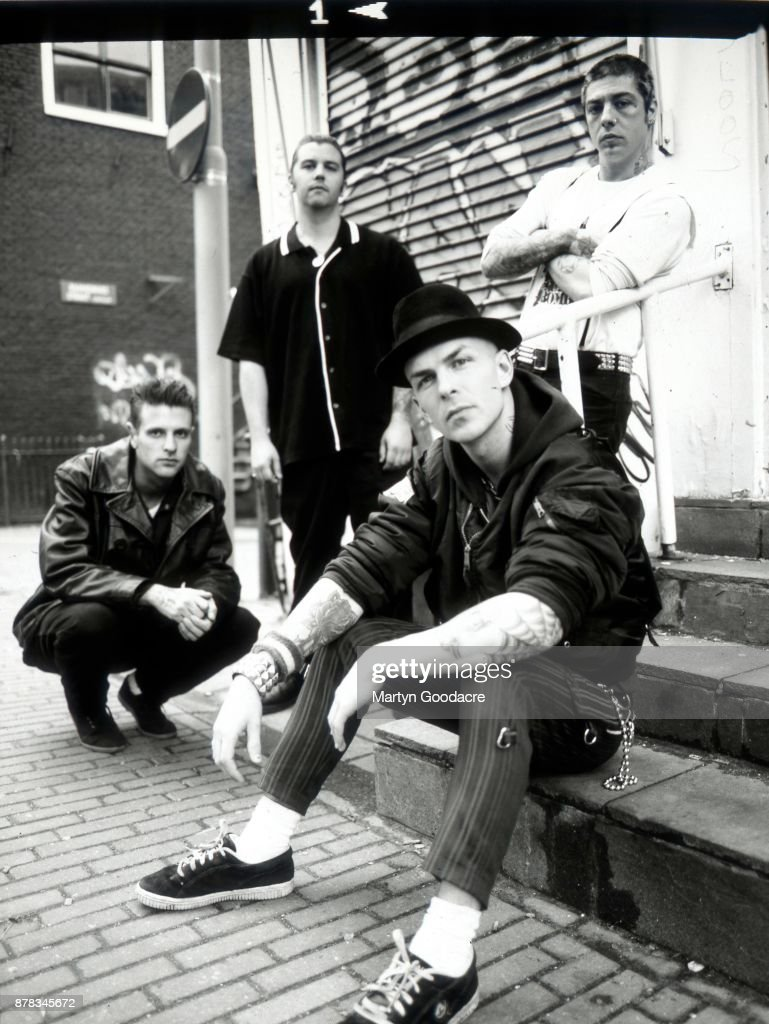 Group portrait of Rancid in Amsterdam, Netherlands, 1995