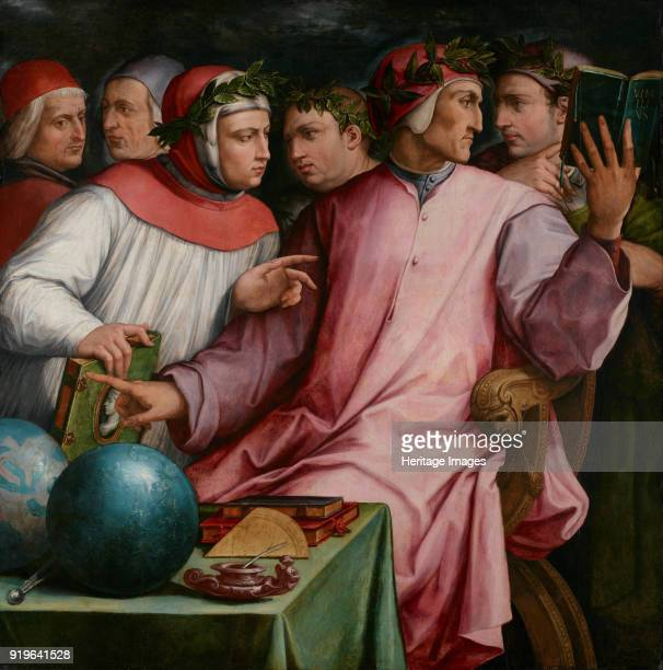 Group Portrait of Six Tuscan Poets 1544 Found in the Collection of Minneapolis Institute of Arts