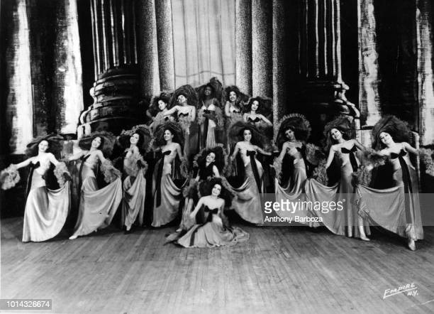 Group portrait of the Apollo Theater Chorus Line New York New York circa 1935