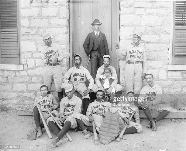 Group portrait of the baseball players from Morris Brown College 1900