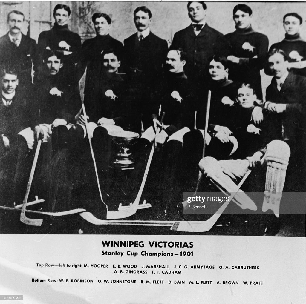 Portrait Of Winnipeg Victorias, 1901 : News Photo
