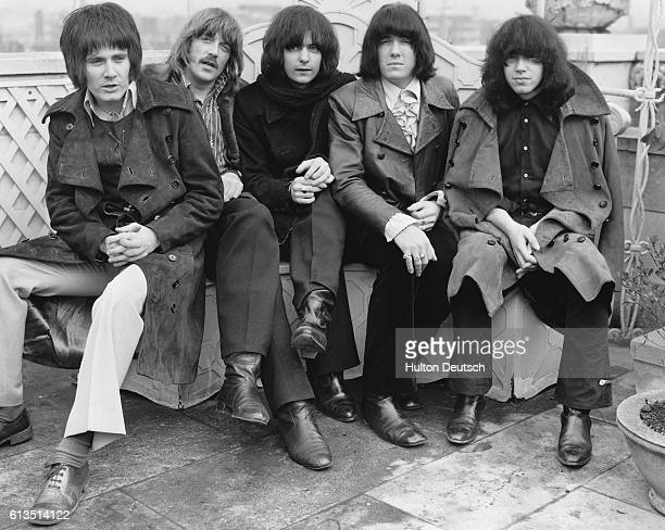 A group portrait of the rock group Deep Purple in 1969 before Roger Glover and Ian Gillan joined the group From left to right Rod Evans Jon Lord...