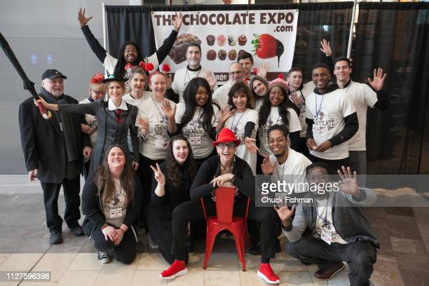 Group portrait of the staff at The Chocolate Expo held at the Garden State Plaza Mall Paramus New Jersey January 2019