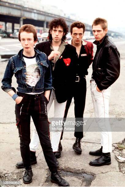 Group portrait of UK punk rock band The Clash, New York, September 1978, L-R Nicky 'Topper' Headon, Mick Jones, Joe Strummer, Paul Simonon.