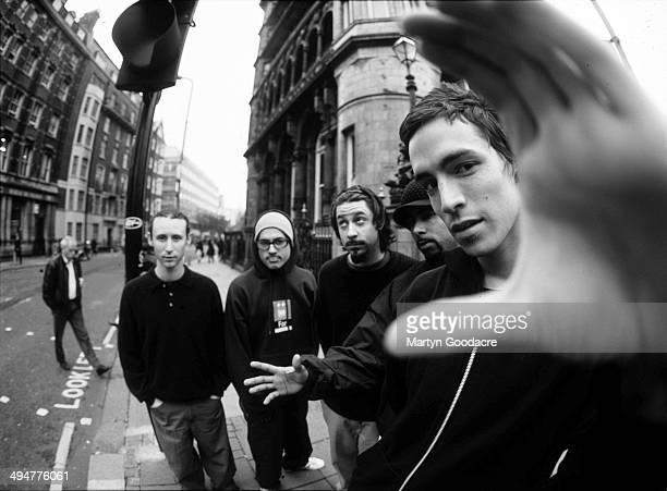 Group portrait of US rock band Incubus London United Kingdom 2000