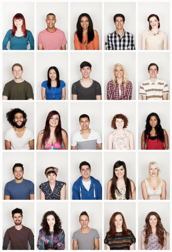 Group portrait of young men and women - gettyimageskorea