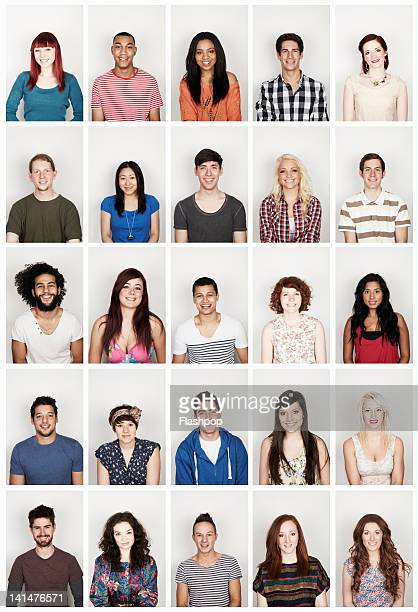 group portrait of young men and women - variation stock pictures, royalty-free photos & images