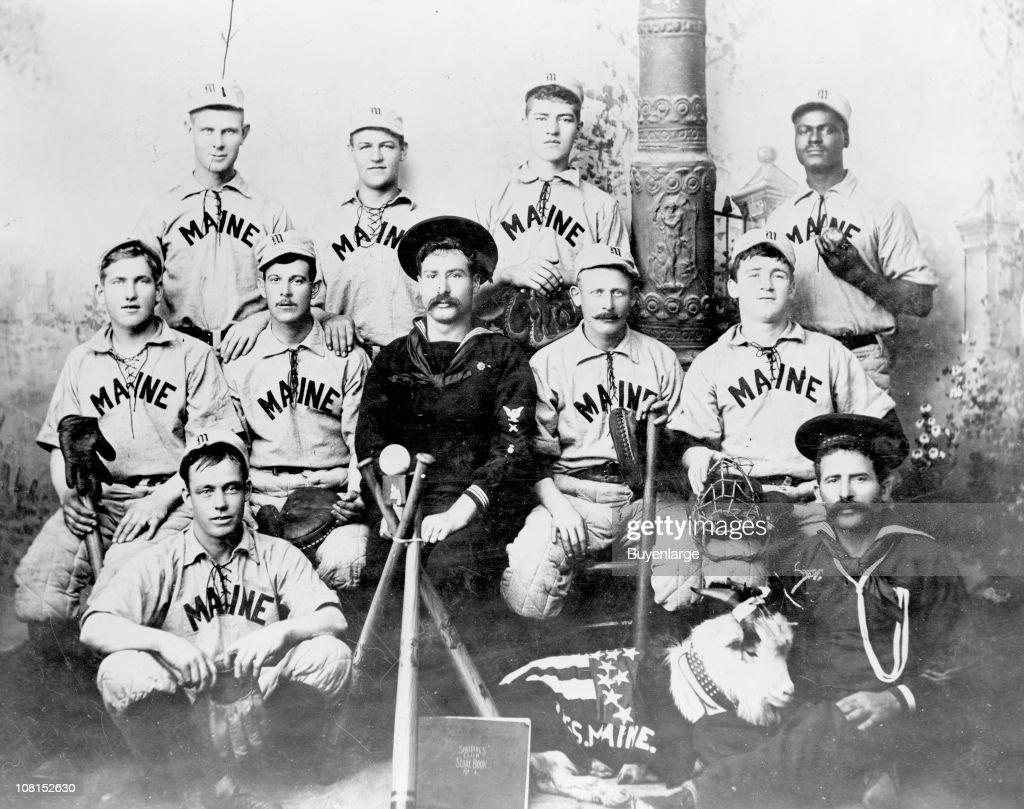 Baseball Club From The USS Maine : News Photo