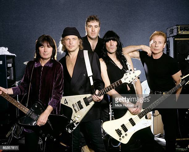 UFO group portrait with Paul Raymond on left and Michael Schenker second left