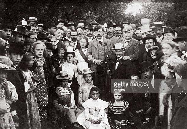Group portrait with Victor Adler austrian politician Founder and leader of the Austrian Socialdemocratic Party Photography Around 1910...
