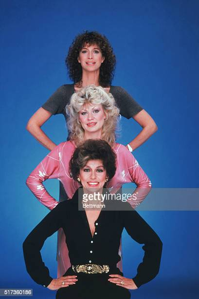 Group pose of the actresses starring in the Television situational comedy Nine to Five From top to bottom are Valerie Curtain Rachel Dennison and...