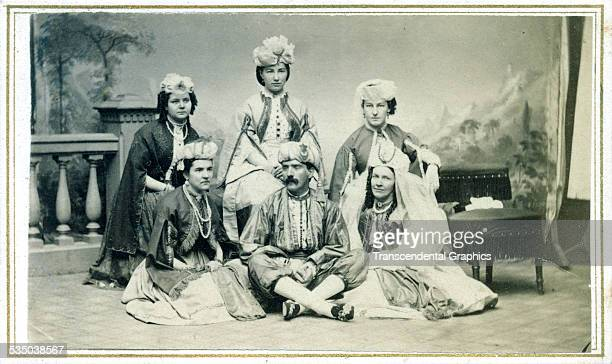 A group posing as ethnic Turks are raising money for relief during the Civil War and are appearing in Syracuse New York in this photo taken around...
