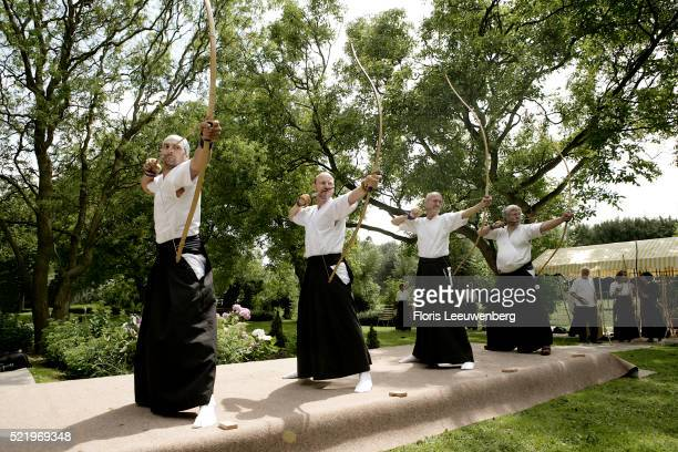 Group Practicing Kyudo in the Netherlands