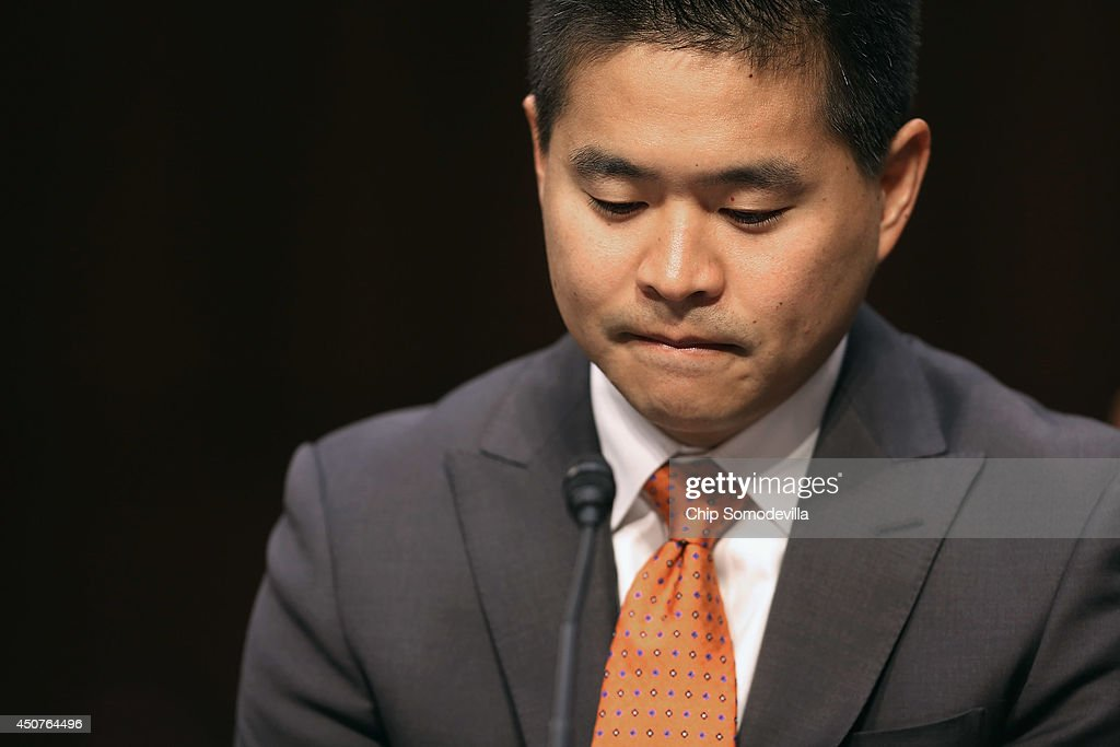 Group President and CEO Bradley Katsuyama testifies before the Senate Homeland Security and Governmental Affairs Investigations Subcommittee about high speed stock trading in U.S. markets in the Hart Senate Office Building on Capitol Hill June 17, 2014 in Washington, DC. The committee heard testimony from experts and executives about conflicts of interest and the loss of investor confidence due to high speed trading.