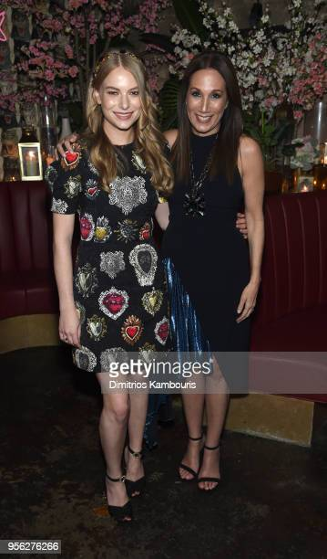 Group President The Estee Lauder Companies Inc Jane Hertzmark Hudis and Actress Danielle Lauder attend an intimate dinner hosted by The Business of...