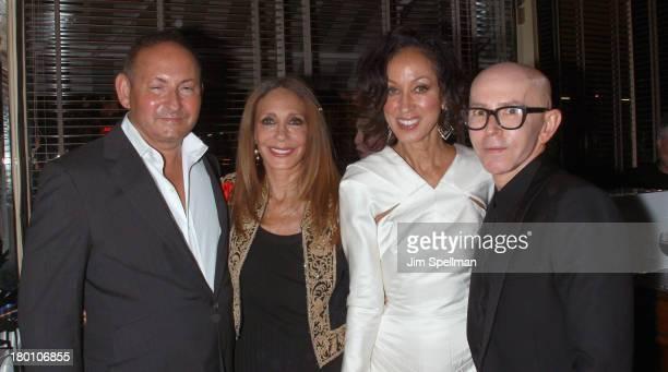 Group President The Estee Lauder Companies Inc John Demsey actress/model Marisa Berenson model Patricia Cleveland and MAC creative Director James...