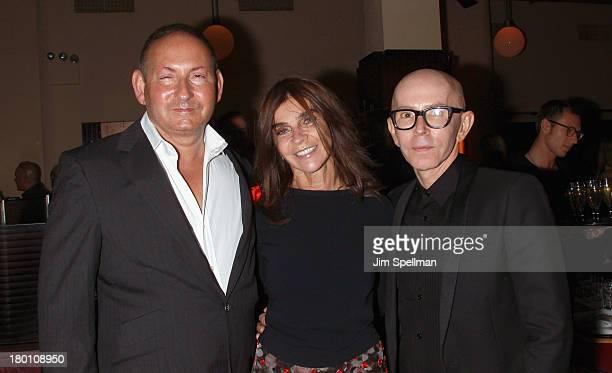 Group President The Estee Lauder Companies Inc John Demsey EditorInChief of Vogue Paris Carine Roitfeld and MAC creative Director James Gager attend...