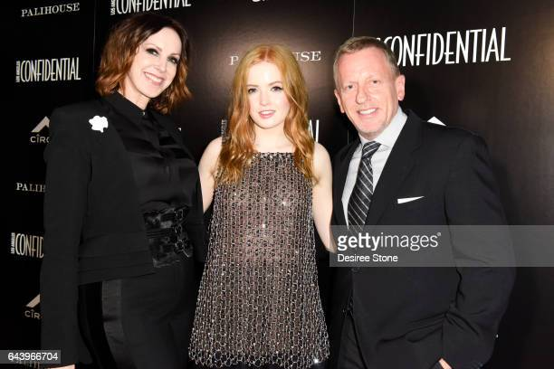 Group Publisher Alison Miller Actress Ellie Bamber and Editor in Chief Spencer Beck attend the Los Angeles Confidential magazine and CIROC...