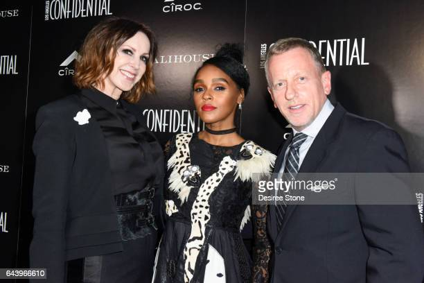Group Publisher Alison Miller Actress Janelle Monae and Editor in Chief Spencer Beck attend the Los Angeles Confidential magazine and CIROC...