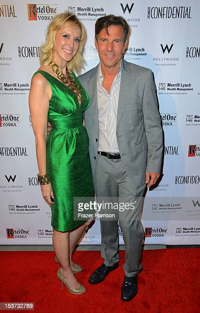 Group Publisher Alison Miller and actor Dennis Quaid arrive at Los Angeles Confidential Magazine Celebrates Their Men's Issue Cover Party with Dennis...