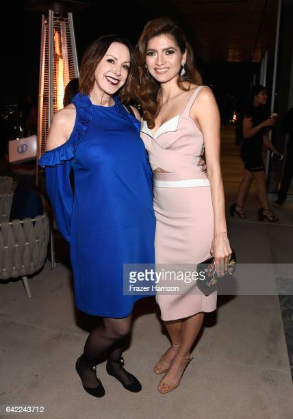Group Publisher Los Angeles Confidential Alison Miller Actress Blanca Blanco attend at the Los Angeles Confidential Winter Issue celebration with...
