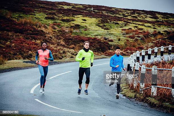 Group Run in the Countryside