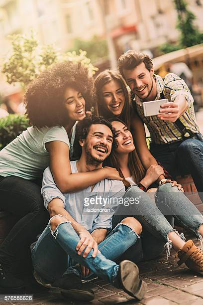 group selfie - group of objects stock photos and pictures