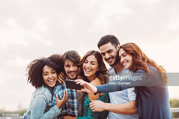 group selfie - five people stock pictures, royalty-free photos & images
