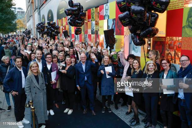 Group shot during the celebration of KaDeBe Kaufhaus der Berliner at KaDeWe on October 18 2019 in Berlin Germany