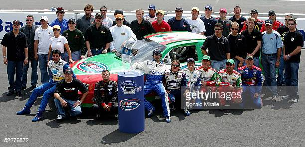 Group shot of all the qualified drivers during the practice for the Telcel Mexico 200 Nascar Busch Series Race on March 4, 2005 at the Autrodromo...