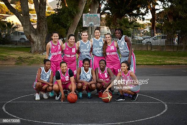 Group shot of female basket team