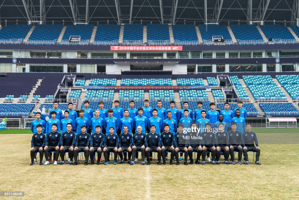c2ff2c54e Group Shots of Tianjin TEDA F.C. for the 2018 Chinese Super League   News  Photo