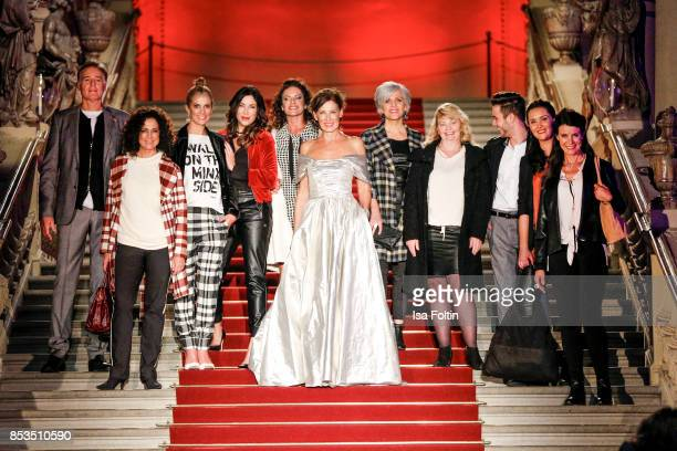 Group shot with Austrian actor Albert Fortell Austrian actress Barbara Wussow German presenter Kerstin LinnartzGerman presenter Alexandra Polzin...