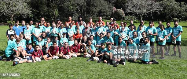 Group shots with All Blacks and Black Ferns during a meet and greet with the Governor General at Government House on September 15 2017 in Auckland...