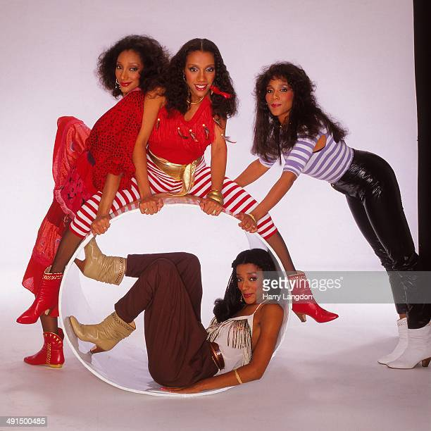 R7B group Sister Sledge poses for a portrait session circa 1984 in Los Angeles California
