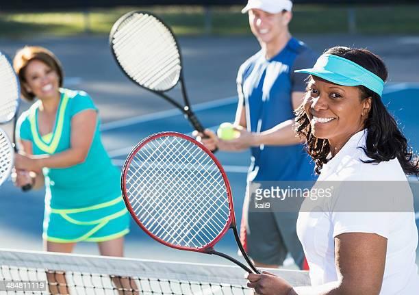Group tennis lesson
