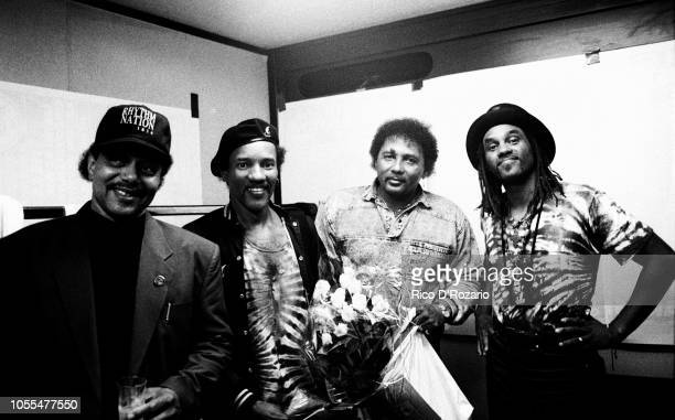 Group The Neville Brothers, portrait, at the North Sea Jazz Festival, The Hague, Netherlands, 1991.