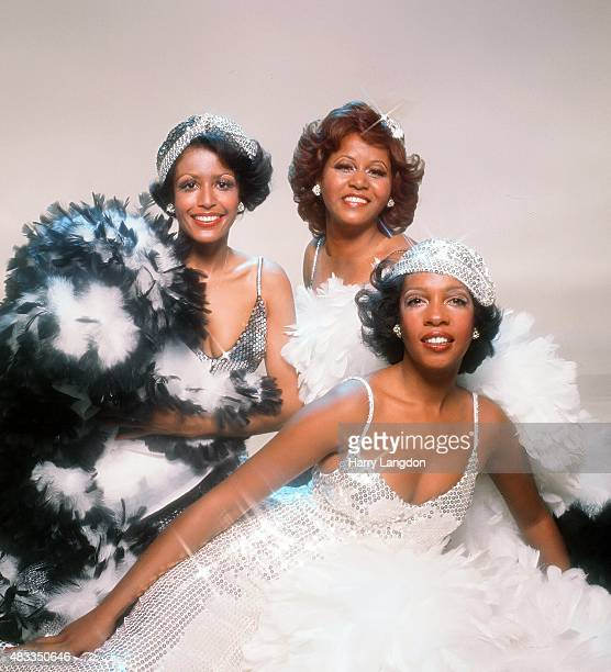 B group The Supremes pose for a portrait in 1975 in Los Angeles California