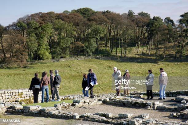 A group tour at Housesteads Roman Fort
