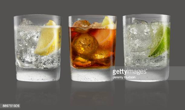 group tumbler drinks - tonic water stock pictures, royalty-free photos & images