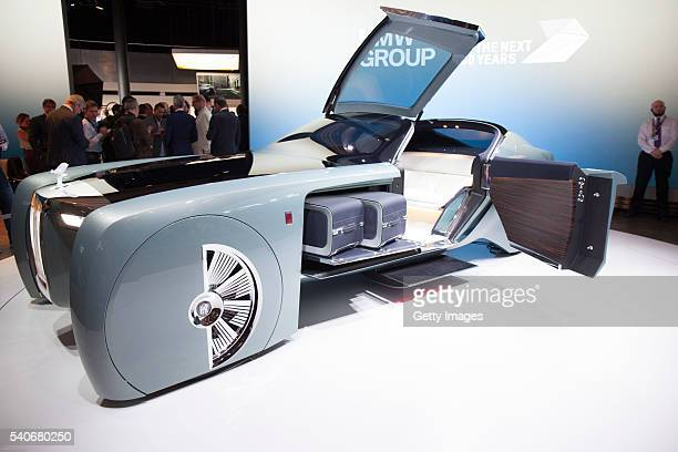 Group unveiles Vision Next 100 concept Rolls Royce at the Roundhouse on June 16 2016 in London England BMW Group unveiled three of their Vision Next...