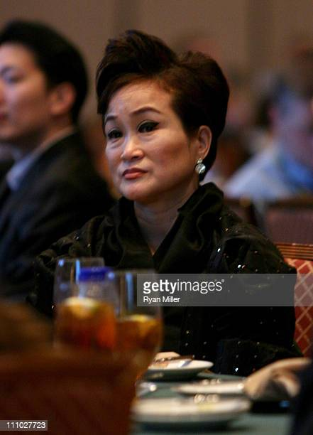 Group vice chairman Miky Lee attends CinemaCon 2011 at The Colosseum of Caesars Palace on March 28 2011 in Las Vegas Nevada
