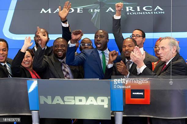 NASDAQ OMX Group vice chairman Sandy Frucher African Development Bank chief of staff Anne Kabagambe actor Jamie Foxx fashion designer and Made In...