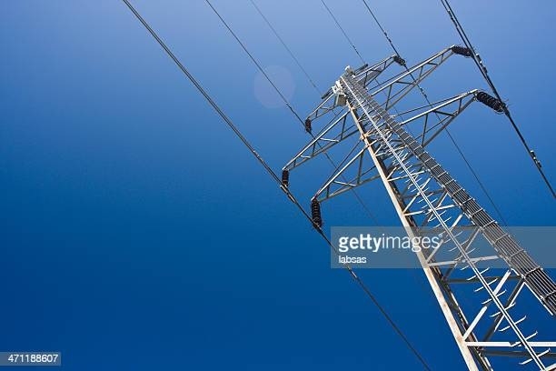 a group view of an electric tower - power line stock pictures, royalty-free photos & images