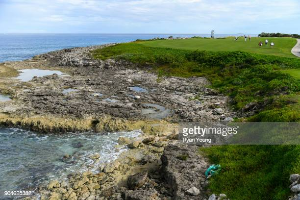 A group walks up the 14th fairway during the first round of the Webcom Tour's The Bahamas Great Exuma Classic at Sandals Emerald Bay Emerald Reef...